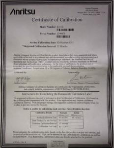 Cal Certificate